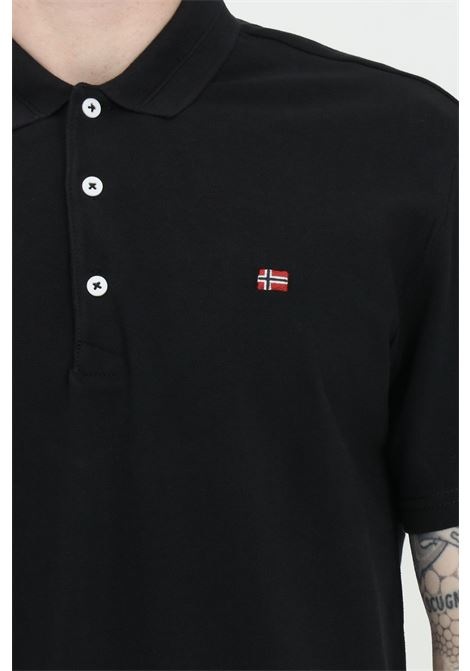 Black polo shirt with buttons and small logo on the front, basic model. Napapijri NAPAPIJRI | Polo Shirt | NP0A4FA304110411
