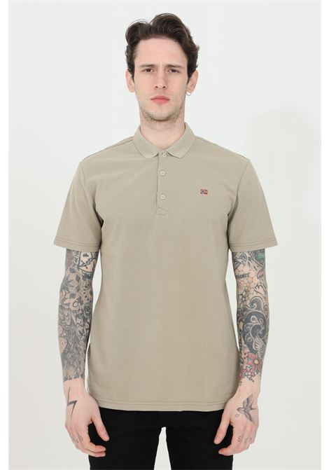 Sand polo shirt with buttons and small logo on the front, basic model. Napapijri NAPAPIJRI   Polo Shirt   NP0A4FA3G5L1G5L1