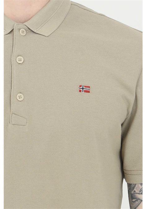 Sand polo shirt with buttons and small logo on the front, basic model. Napapijri NAPAPIJRI | Polo Shirt | NP0A4FA3G5L1G5L1