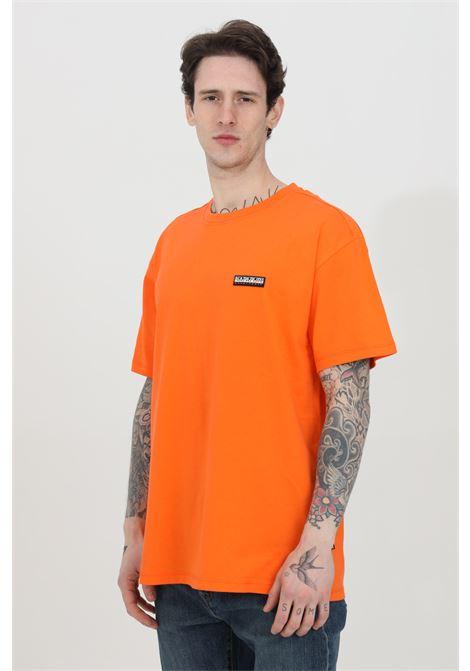 T-shirt girocollo con logo in dimensioni ridotte sul fronte NAPAPIJRI | T-shirt | NP0A4FG8A1A1A1A1
