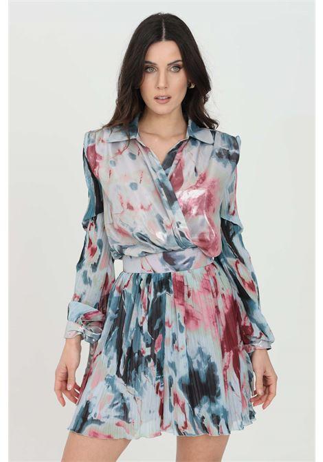 Body donna multicolor nbts elegante stampato con incrocio. Modello comodo a maniche lunghe. Colletto regular senza chiusure NBTS | Body | NB21001.