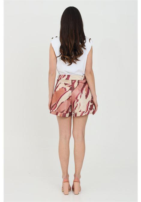 Shorts donna multicolor nbts casual con stampa glitter allover, tasche laterali e chiusura con zip NBTS | Shorts | NB21015.