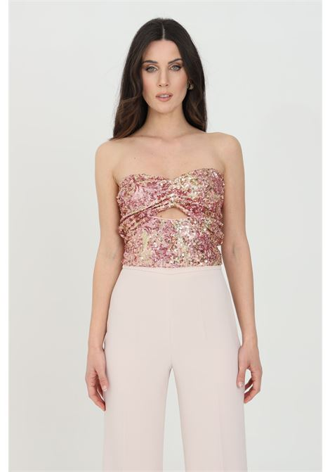 Pink body with sequins. Bare back, without closures. Nbts NBTS | Top | NB21056.
