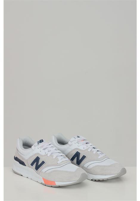 Sneakers 997h donna bianca new balance con logo laterale, suola in gomma e punta tonda, chiusura con lacci NEW BALANCE | Sneakers | CW997HVP..