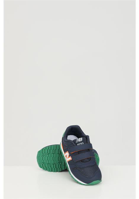 Sneakers neonato blu new balance con logo laterale e punta tonda NEW BALANCE | Sneakers | IV500WNONAVY