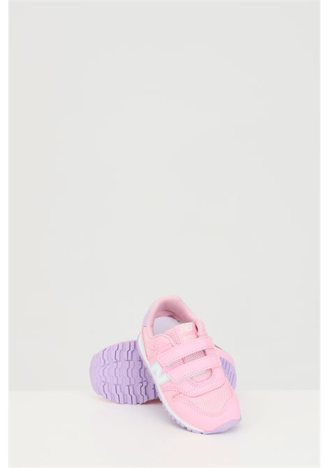 Pink sneakers with contrasting side logo, velcro closure. Baby model. Brand: New Balance NEW BALANCE | Sneakers | IV500WPB.PINK