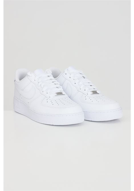 White Air force 1 '07 sneakers in solid color with tone on tone logo. Nike NIKE | Sneakers | 315122111
