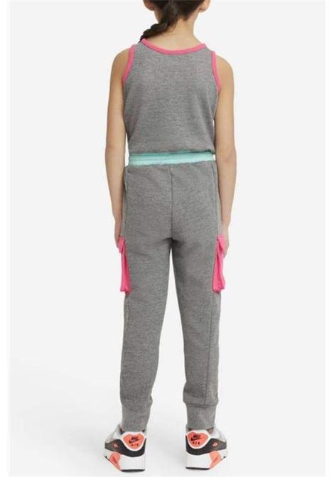 Tuta bambina grigio Nike con molla in vita e lacci NIKE | Tute | 36H471-GEHGEH