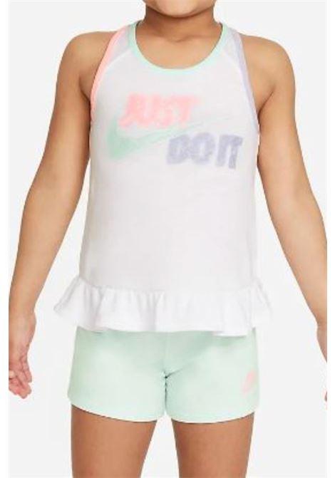 Outfit white sleeveless t-shirt nike NIKE | Kit | 36H756-E8UE8U