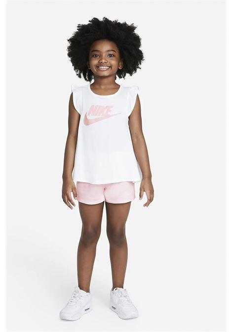 Completino bambina rosa nike con logo frontale NIKE | Completini | 36H833-A6AA6A