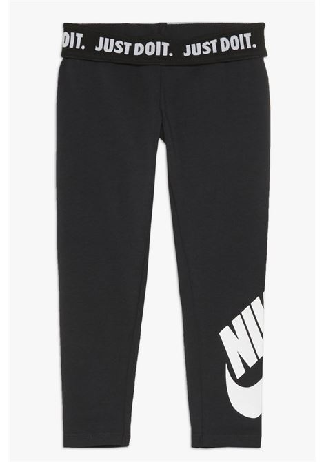Black leggings with elasticated band and printed logo on the bottom. Baby model. Brand: Nike NIKE | Leggings | 3UC723-02323