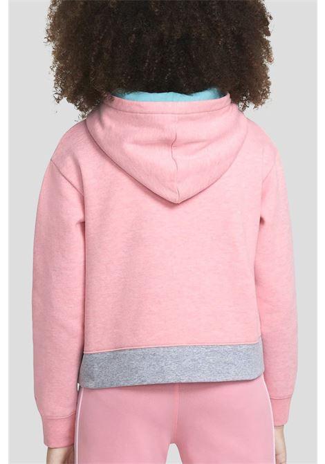 Felpa bambina pink/grey Nike-Jordan con cappuccio NIKE   Felpe   45A407-A0RA0R