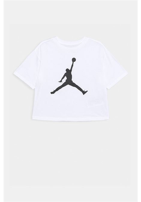 White t-shirt with contrasting print on the front. Baby model. Brand: Nike-Jordan NIKE | T-shirt | 45A437-001001