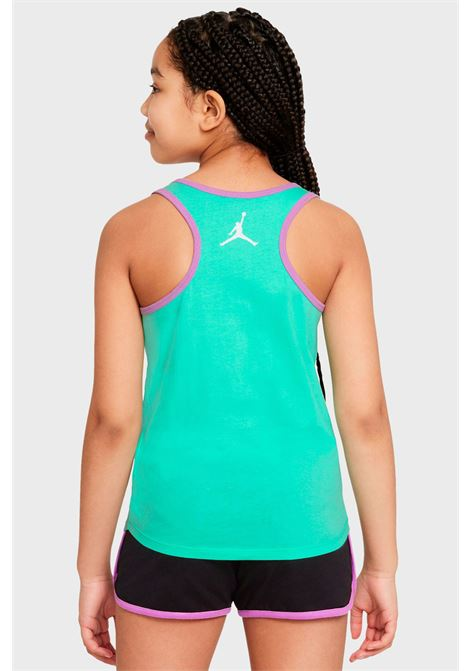 T-shirt bambina verde nike jordan modello canotta con stampa frontale NIKE | T-shirt | 45A586-G11G11