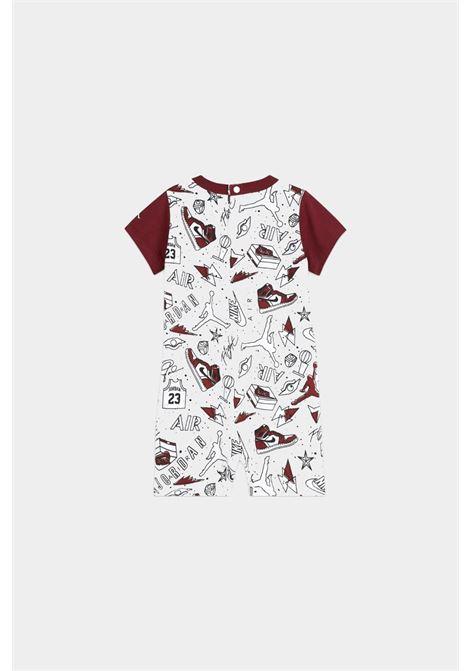 Body neonato bianco-rosso nike jordan a manica corta NIKE | Body | 55A405-0011