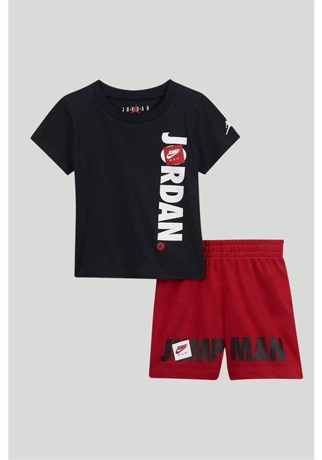 Black-red newborn outfit. Nike jordan