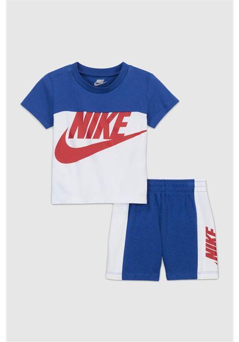 Completino neonato blu nike t-shirt e shorts NIKE | Completini | 66H363-U89U89