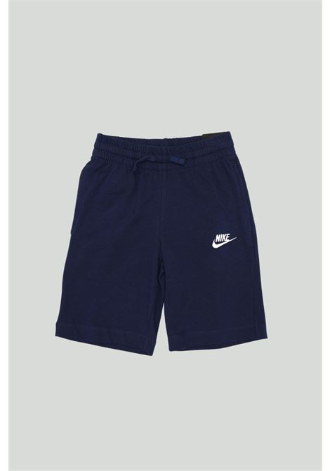 Blue shorts with side logo in contrast. Baby model. Brand: Nike NIKE | Shorts | 805450478