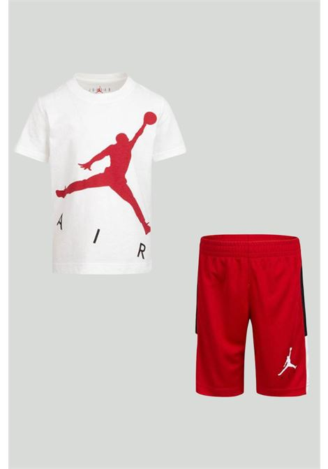 White/red complete suit with front logo. Baby model. Brand: Nike-Jordan NIKE | Kit | 85A390-R78R78