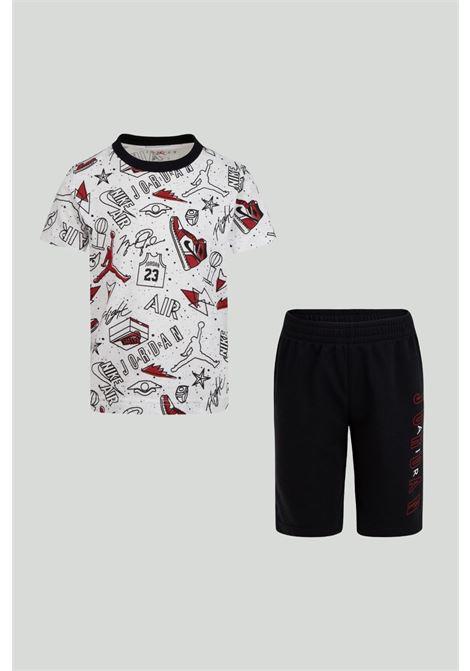 Completino bambino bianco-nero nike jordan NIKE | Completini | 85A398-02323