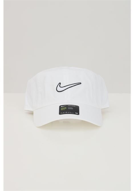 White cap with front logo. Nike  NIKE | Hat | 943091100