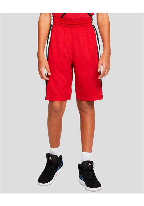 Shorts bambino rosso nike jordan con banda laterale logata NIKE   Shorts   957115-R78R78
