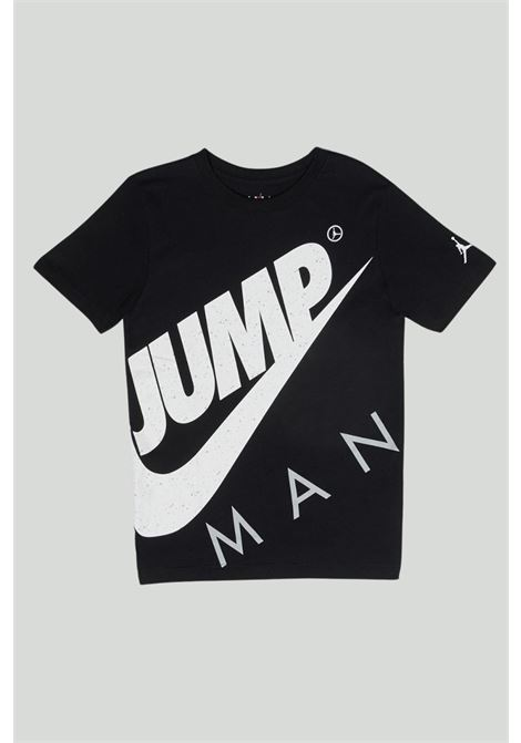 T-shirt bambino nera Nike-Jordan con logo frontale NIKE   T-shirt   95A352-023023