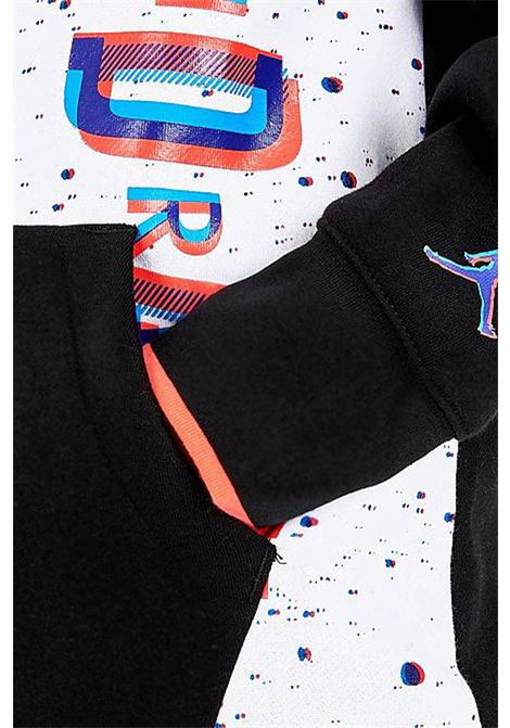 Felpa bambino bianca/nera Nike-Jordan con cappuccio NIKE | Felpe | 95A399-K25K25