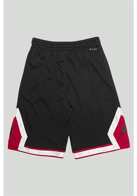 Shorts bambino nero Nike-Jordan con banda elastica in vita NIKE   Shorts   95A432-023023