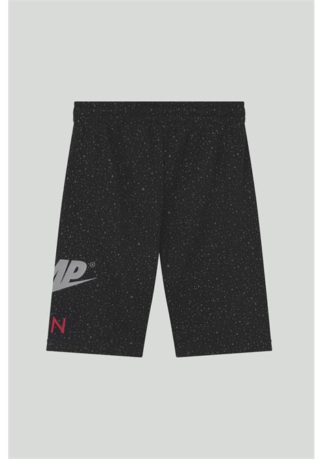 Black shorts Jumpman Speckle with elastic waistband and side logo. Baby model. Brand: Nike-Jordan NIKE | Shorts | 95A439-023023