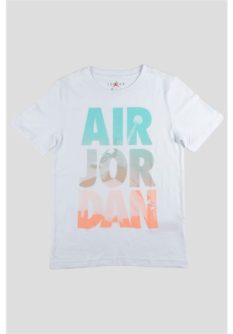 White baby nike t-shirt with maxi logo lettering. NIKE | T-shirt | 95A560-0011