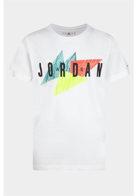 T-shirt bambino/a bianco nike-jordan con maxi logo frontale NIKE | T-shirt | 95A562-0011