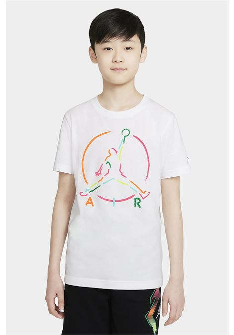 White baby t-shirt with maxi print on the front. Nike jordan  NIKE | T-shirt | 95A563-0011