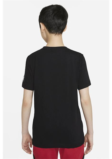 Black baby t-shirt with maxi print on the front. Nike jordan NIKE | T-shirt | 95A563-02323