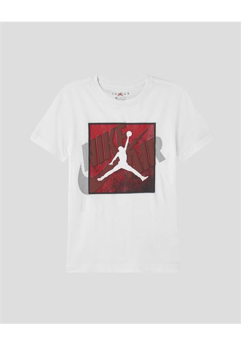 White baby t-shirt with over patch nike jordan  NIKE   T-shirt   95A640-0011