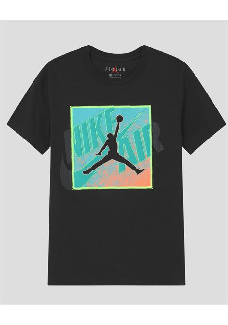 Black baby t-shirt with over patch nike jordan NIKE | T-shirt | 95A640-02323