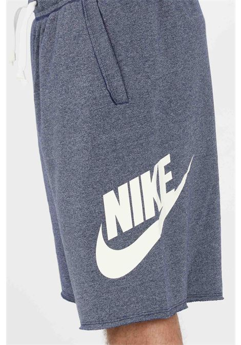 Denim blue Sportswear Alumni shorts with side logo in contrast. Nike NIKE | Shorts | AR2375494