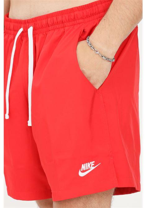 Shorts mare uomo rosso nike con logo a contrasto NIKE   Beachwear   AR2382657