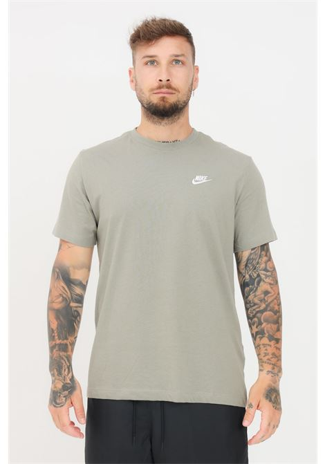 Green men's t-shirt with contrasting logo short sleeve nike NIKE | T-shirt | AR4997320