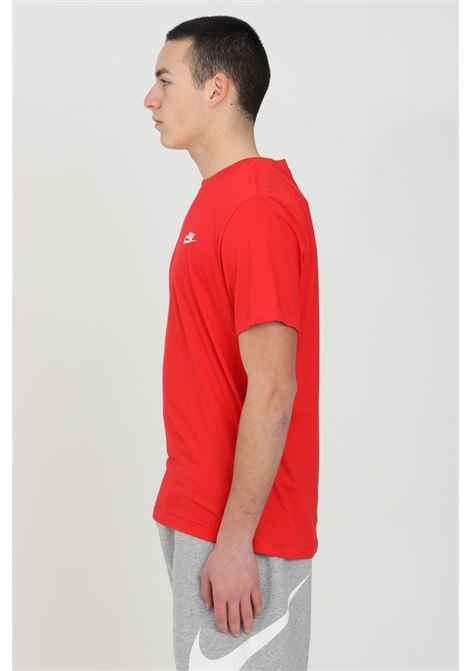 Crew neck t-shirt in solid color with logo on the front NIKE | T-shirt | AR4997657