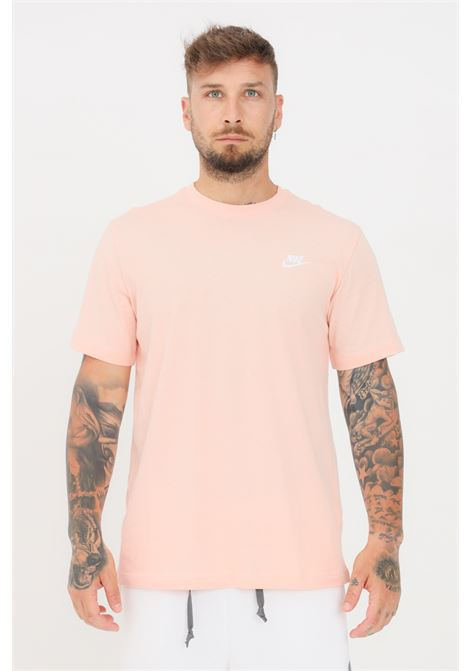 Orange men's t-shirt with contrasting logo short sleeve nike NIKE | T-shirt | AR4997800