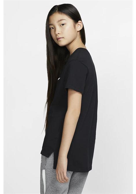 T-shirt bambino/a nero Nike con stampa frontale a contrasto NIKE | T-shirt | AR5088010