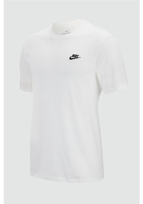 White t-shirt with contrasting logo. Baby model. Brand: Nike NIKE | T-shirt | AR5254100