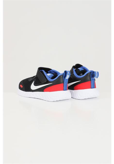 Sneakers neonato nero nike con logo laterale a contrasto NIKE | Sneakers | BQ5673020