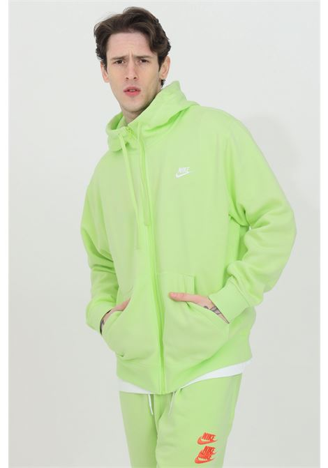 Lime hoodie with front zip. Nike NIKE | Sweatshirt | BV2645383