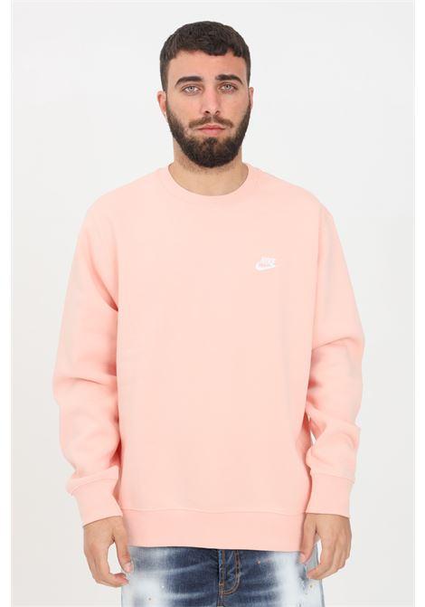 Pink crew neck sweatshirt with front logo nike NIKE | Sweatshirt | BV2662800