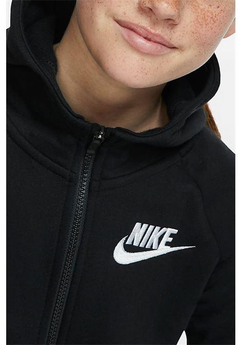 Black hoodie with front zip closure. Baby model. Brand: Nike NIKE | Sweatshirt | BV2712010