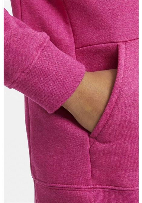 Felpa bambina fucsia Nike con cappuccio e chiusura frontale con zip NIKE | Felpe | BV2712615