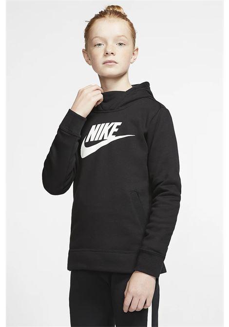 Black baby hoodie with contrasting front logo. Nike NIKE | Sweatshirt | BV2717010