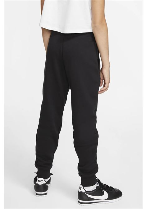 Black baby pants with elastic waistband and cuffs. Small logo in contrast. Nike NIKE | Pants | BV2720010